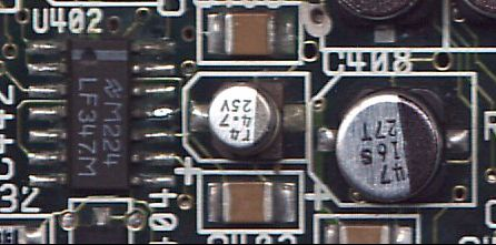 Leaking SMD electrolytic capacitor